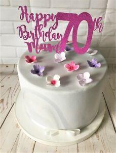 Stupendous Happy 70Th Birthday Mum Cake Topper Plant Pick Decoration Funny Birthday Cards Online Bapapcheapnameinfo