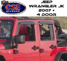 Window Rain Deflector Guards Fits: Jeep Wrangler JK 2007-2017 4 Door 11351.12