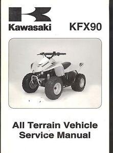 2007 kawasaki kfx 90 atv service manual ebay rh ebay com kawasaki kfx 90 service manual 2008 kawasaki kfx 90 owners manual