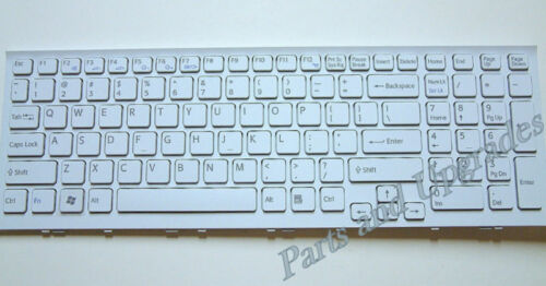 Sony Vaio VPCEH3NFX VPCEH3NFX//W VPCEH3QFX VPCEH3QFX//W White Keyboard W//Frame NEW