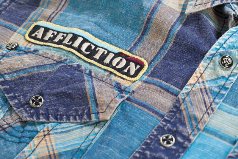 Affliction Affliction Affliction Camicia View Finder camicie blu aebbf0