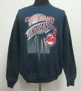 sports shoes 5f333 f2166 Details about Vtg 90s Cleveland Indians Crewneck Sweatshirt Men's XL  X-Large MLB Baseball Blue