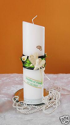 Hochzeitkerze,Traukerze,Braut mit Herz sehr Edel Hochzeitsdekor
