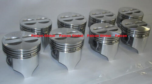 "Chevy 327 Sealed Power//Speed Pro Cast Flat Top Pistons Set//8 .040/"" 1962-69"