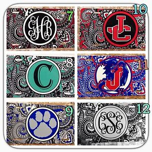 Monogram License Plate Paisley Personalized Car Tag New
