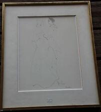 Leonor FINI - Dessin crayon encre aquarelle original drawing couple
