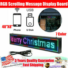40x8 Rgb 7 Color Scrolling Message Display Board Programmable Sale Led Sign