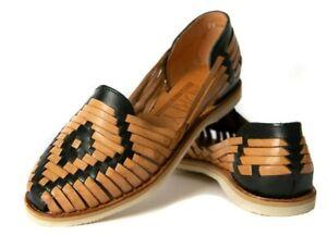 9ad599a2d8ea0 AUTHENTIC WOMEN S CLOSED TOE Huarache Sandals BLACK TAN Catrina ...
