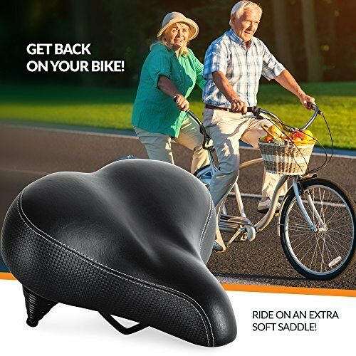 Bike Seat for Seniors Extra Wide and Padded Bicycle Saddle Replacement