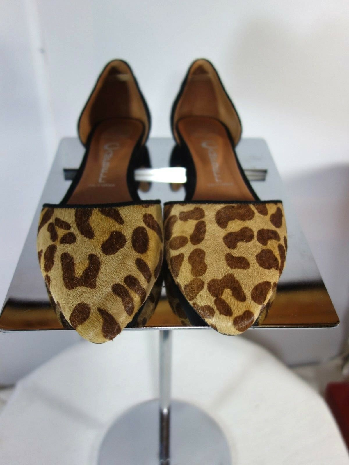 NEW Jeffrey Campbell Campbell Campbell Ibiza LEOPARD/BLK SUEDE IN-LOVE BALLET SHOE - SIZE 8M 4c3480