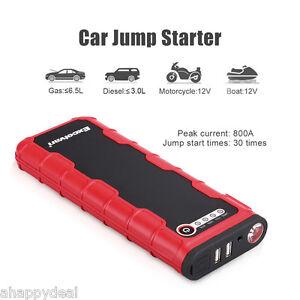 Excelvan 18000mAh 12V Batería Cargador Coche Arrancador Salto Car Jump Starter