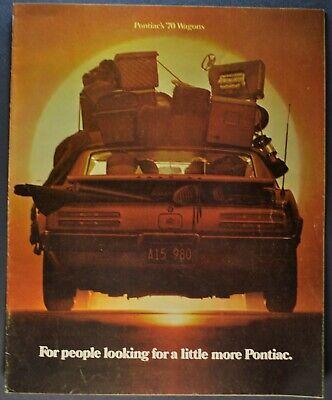 1968 Pontiac Bonneville Catalina Executive Safari Tempest Station Wagon Brochure