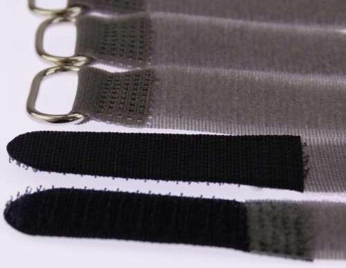 30x Câble Velcro 200 x 20 mm NOIR FK Velcro Bande Serre-câbles Velcro Bandes Avec œillet