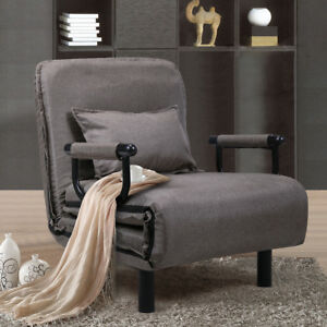 """Sofa Bed Folding Arm Chair 25.6"""" Width Convertible Sleeper Recliner Lounge New"""
