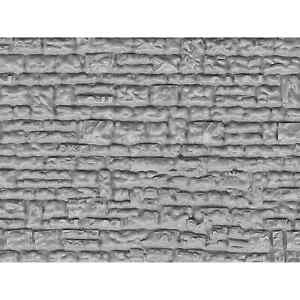 VOLLMER-46031-HO-DECORS-PLAQUE-MUR-EN-PIERRE-DE-TAILLE-SYNTHETIQUE-GRIS-H0