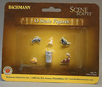 6Pcs//Pk 33157 Bachmann O Scale Train Cats With Garbage Can
