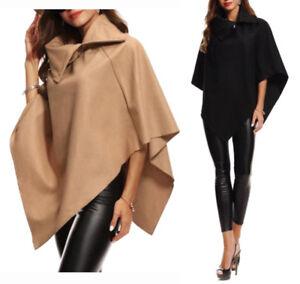 molti alla moda selezionare per lo spazio acquisto autentico Dettagli su PONCHO Cappotto Corto Donna Mantella Scialle Coprispalle Giacca  Sottile Poncio