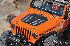 Poison Spyder Jeep Wrangler TJ Hood Louver 97-02 Powder Coat Black 14-53-011-PC