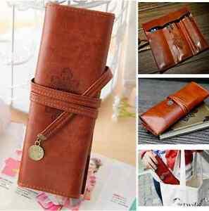 Retro-Vintage-PU-Pencil-Pen-Case-Cosmetic-Pouch-Pocket-Brush-Holder-Makeup-Bag