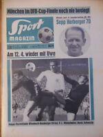 SPORT MAGAZIN KICKER C - 28.3. 1967 Pokal-VF Schalke-Bayern 2:3 1860-Düsseld 2:0