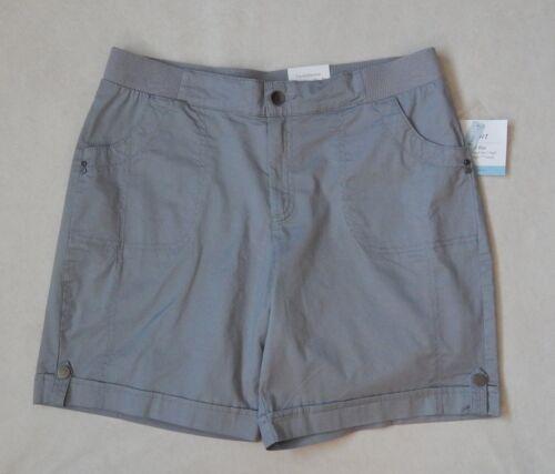 NEW Croft /& Barrow Womens Comfort Khaki Grey Navy Black Shorts Sizes 6-18
