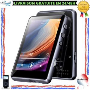 Lecteur MP3 32 Go Bluetooth Ecran Tactile 2.4 Pouces Haut-Parleur Radio FM Noir