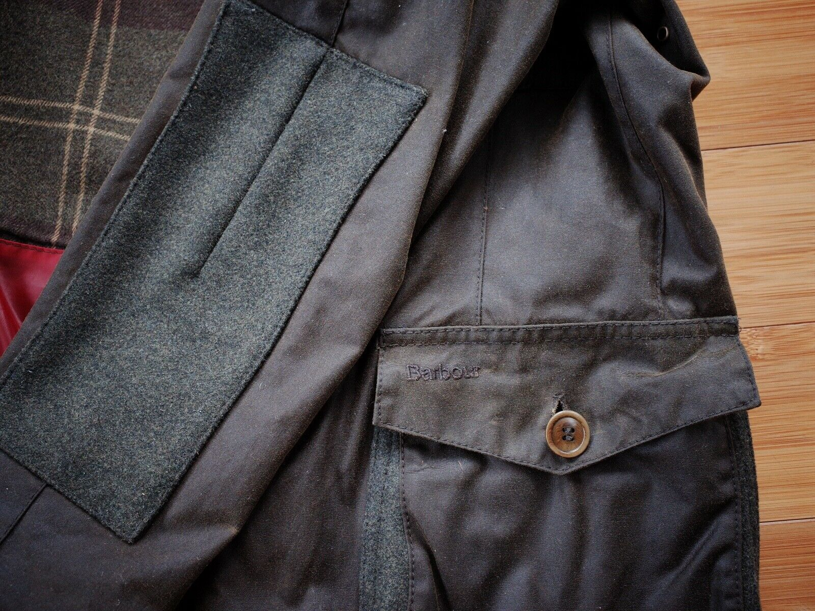 Barbour Dalkeith Wax Jacket – (size Small)  - image 7