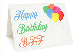 Balloon Birthday Card For FRIEND BEST MATE SISTER Happy Birthday BFF