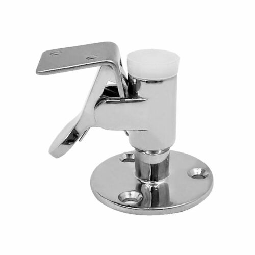 Boat Marine Door Stop Catch with White Bumper 316 Grade Stainless Steel Hardware