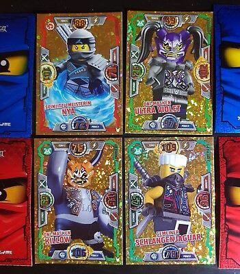 Lego Ninjago série 5 Trading Card Game 4 X édition limitée le12-le15
