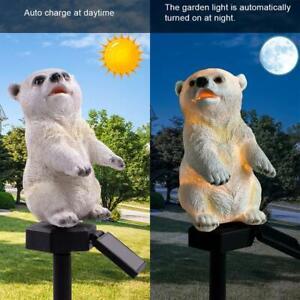 DEL-Solaire-Polar-Bear-Lawn-Lights-Outdoor-Garden-Yard-Landscape-Decoratif-Feux