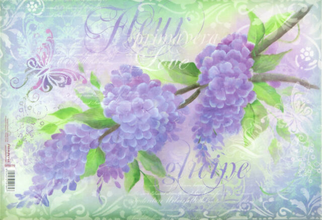 Ricepaper/Decoupage Paper, Scrapbooking Sheets  Lilac