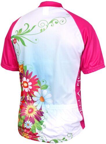 Pink NEW! $60.00 Genuine World Jerseys Women/'s FLOWER POWER Cycling Jersey