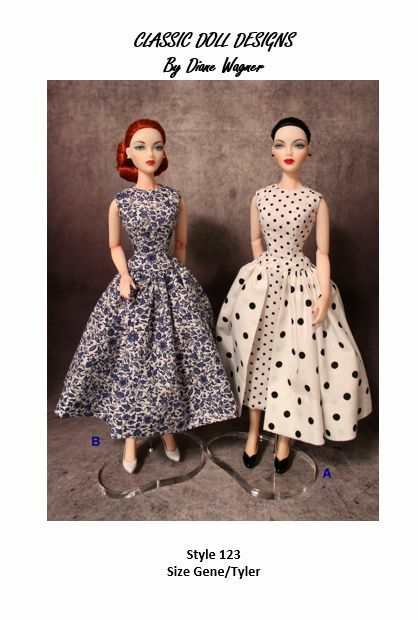 "SEWING PATTERN-Style 123 Designer Inspired Dress Gene Tyler 16"" Poppy Parker"