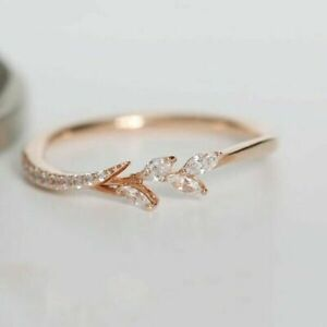 7f71f2178dafc Details about 14k gold 14 tiny diamond pieces of exquisite small fresh  ladies engagement ring