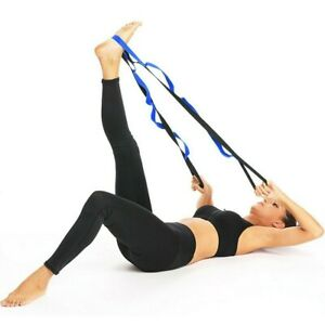 79 inch 10 loop multi grip yoga stretch strap ships from