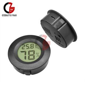 Digital Cigar Humidor Hygrometer Thermometer Runden Black Face NEW