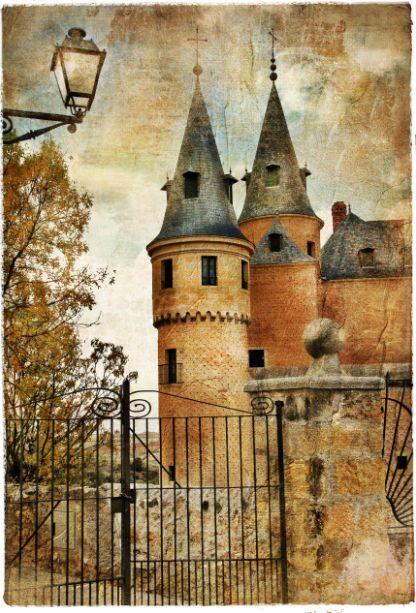 3D Château Grand 75 Photo Papier Peint en Autocollant Murale Plafond Chambre Art