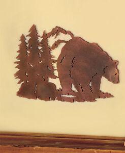 Image Is Loading Metal Cut Bear Silhouette Wall Art Wildlife