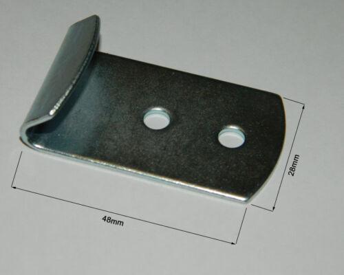 gerader Schließhaken Stahl verzinkt mit  Nietloch Ø 5 mm  48x28x1,5mm 100 Stk
