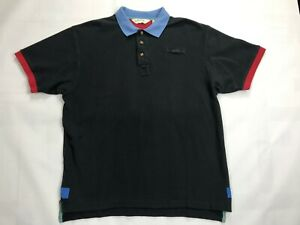 Mens-Orvis-Short-Sleeve-polo-Shirt-SIZE-L-Black-Blue-Red