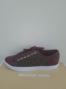 Kors Donna 7 Michael Urbano Sneaker Mk Firma Misura Merlot Nib 4dnnfw