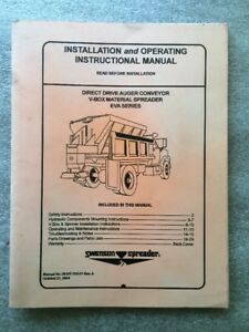 swenson spreader installation an operating manual eva series Pick Up Truck Spreaders Swenson Auger Motor swenson spreader wiring diagram