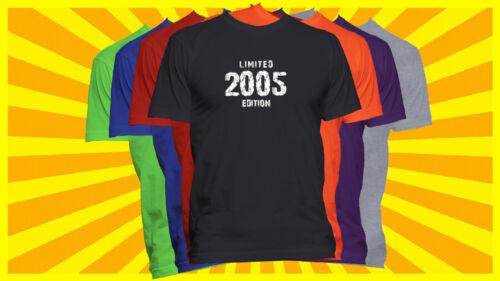 2005 Limited Edition T-Shirt Birthday Year Born T Shirt Born in Year Tee