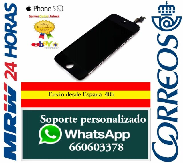Pantalla Completa Tactil LCD Para Iphone 5C Negro Display