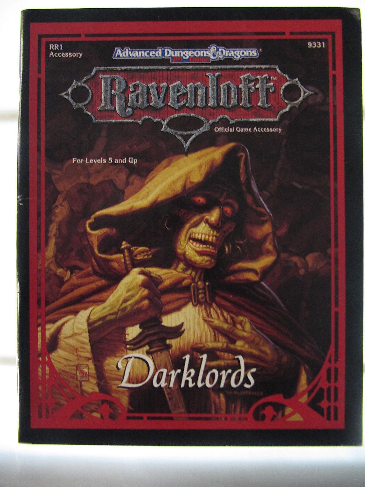 Tsr 9331 Ravenloft Rr1 Darklords Darklords Darklords Dungeons & Dragons Ad & D 2. Ed fcd2aa