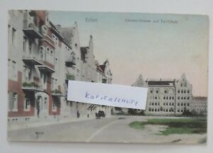 a1907-ERFURT-Schinkelstrasse-und-Talschule-ca-1910