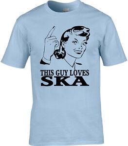 Reggae Mens T-Shirt Love Music Rudeboy Ska Specials Funny Marley Gift Funny