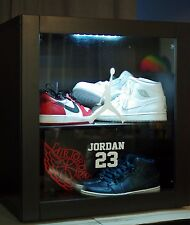 Nike Air Jordan Display case Stand Led sunglasses watches and other gear 11 12 4