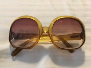 b3c8d02b4b30 Image is loading 1970-039-s-Christian-Dior-Yellow-Sunglasses-Made-